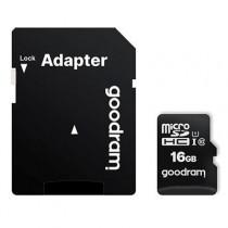 [04-MTMSDM0208] Targeta microSDHC 16GB Goodram (Classe 10, UHS-I, + adaptador)